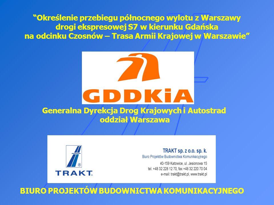 SPOTKANIE INFROMACYJNE Inwestycja swym zakresem dla wariantu II obejmuje: Budowę nowego wylotu z Warszawy jako drogi ekspresowej S7 – Wariant I – niebieski (w.