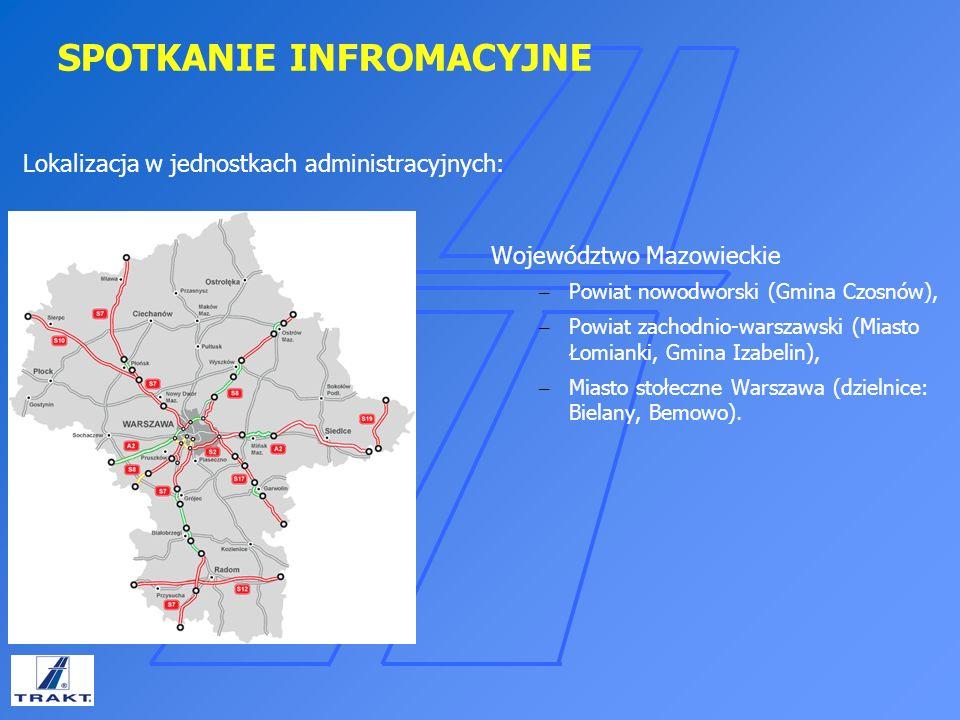 SPOTKANIE INFROMACYJNE Inwestycja swym zakresem obejmuje: Budowę jednego wybranego z trzech wariantów nowego wylotu z Warszawy jako drogi ekspresowej S7 w skład, którego wchodzi budowa węzłów drogowych budowa dróg dojazdowych, budowa obiektów mostowych, kładek dla pieszych, tuneli drogowych, przepustów, murów oporowych, ekranów akustycznych, budowa zbiorników retencyjnych, przewidziano także rezerwy terenowe na MOP i OUD przebudowa infrastruktury kolidującej zagospodarowanie zielenią