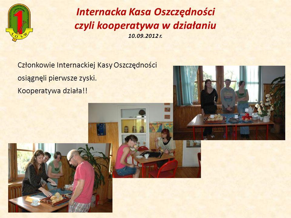 Internacka Kasa Oszczędności czyli kooperatywa w działaniu 10.09.2012 r. Członkowie Internackiej Kasy Oszczędności osiągnęli pierwsze zyski. Kooperaty