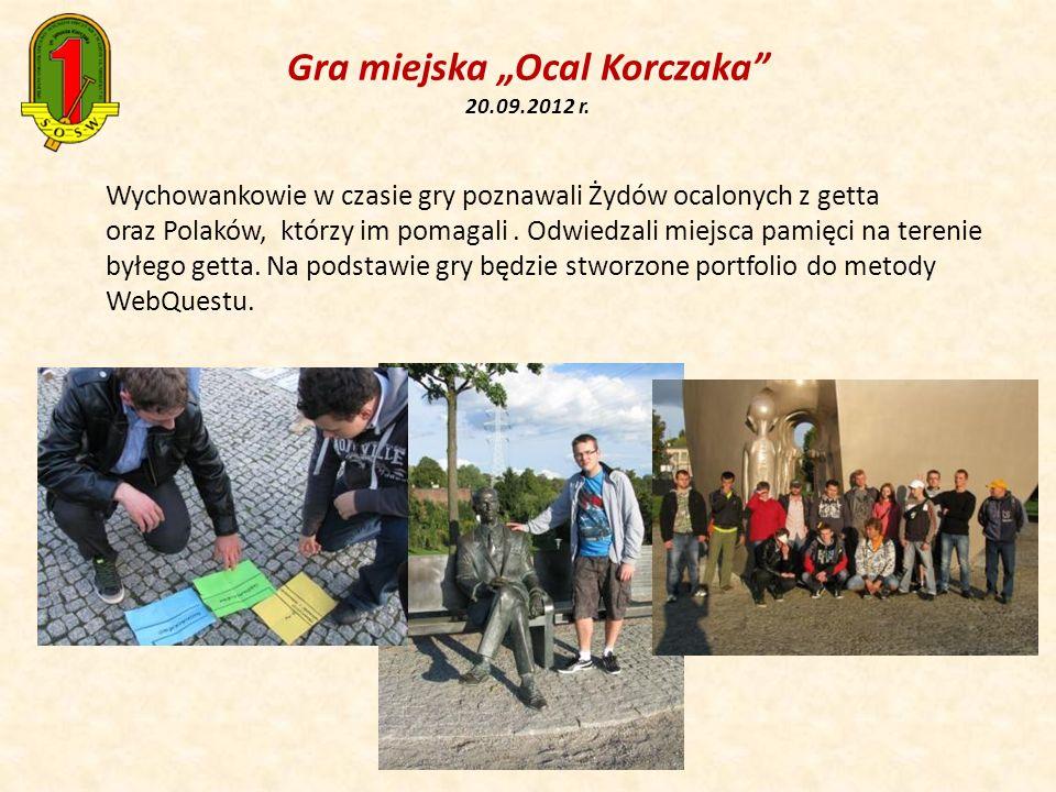 Wychowankowie w czasie gry poznawali Żydów ocalonych z getta oraz Polaków, którzy im pomagali. Odwiedzali miejsca pamięci na terenie byłego getta. Na