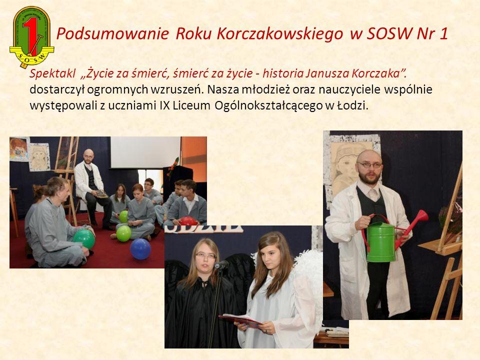 Spektakl Życie za śmierć, śmierć za życie - historia Janusza Korczaka. dostarczył ogromnych wzruszeń. Nasza młodzież oraz nauczyciele wspólnie występo