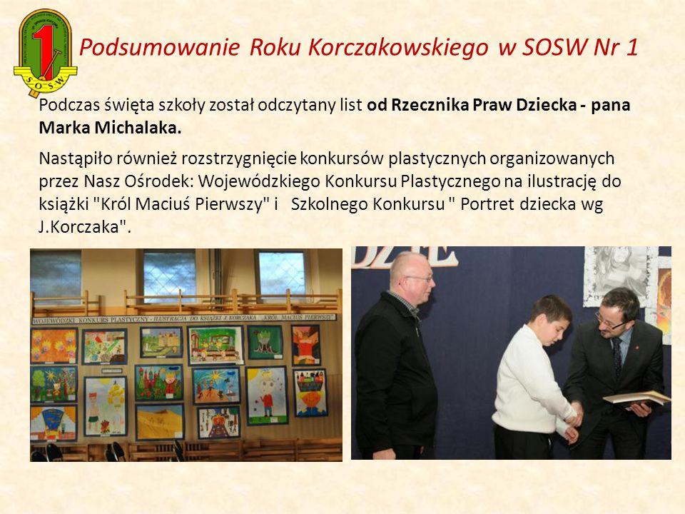 Podczas święta szkoły został odczytany list od Rzecznika Praw Dziecka - pana Marka Michalaka. Nastąpiło również rozstrzygnięcie konkursów plastycznych