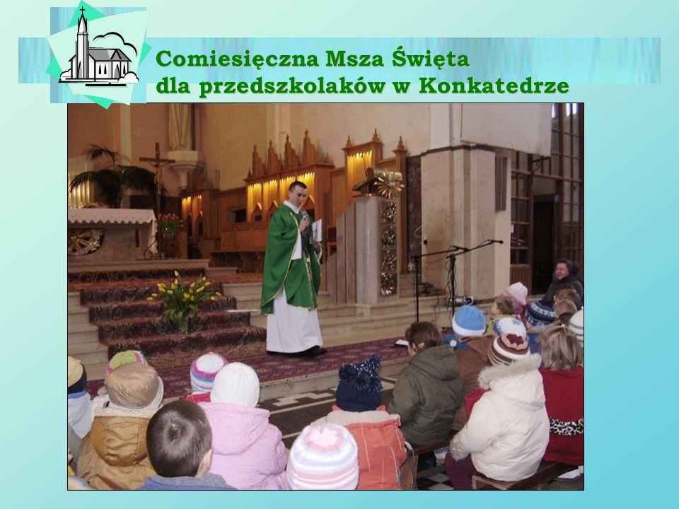 Comiesięczna Msza Święta dla przedszkolaków w Konkatedrze