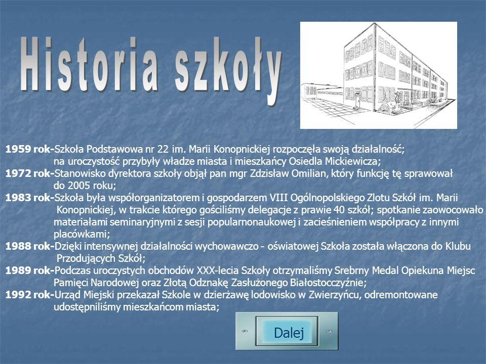1959 rok-Szkoła Podstawowa nr 22 im.