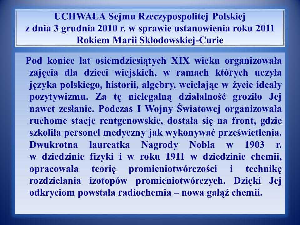Notka biograficzna Marii Sk ł odowskiej – Curie Wiele lat później pisała o Piotrze: Uderzył mnie wyraz jego jasnego spojrzenia.