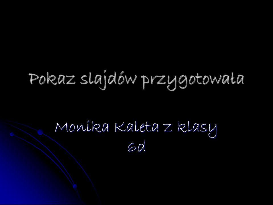 Pokaz slajdów przygotowała Monika Kaleta z klasy 6d