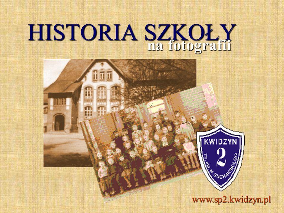 Widok szkoły przed 1945 r. Fotografia archiwalna