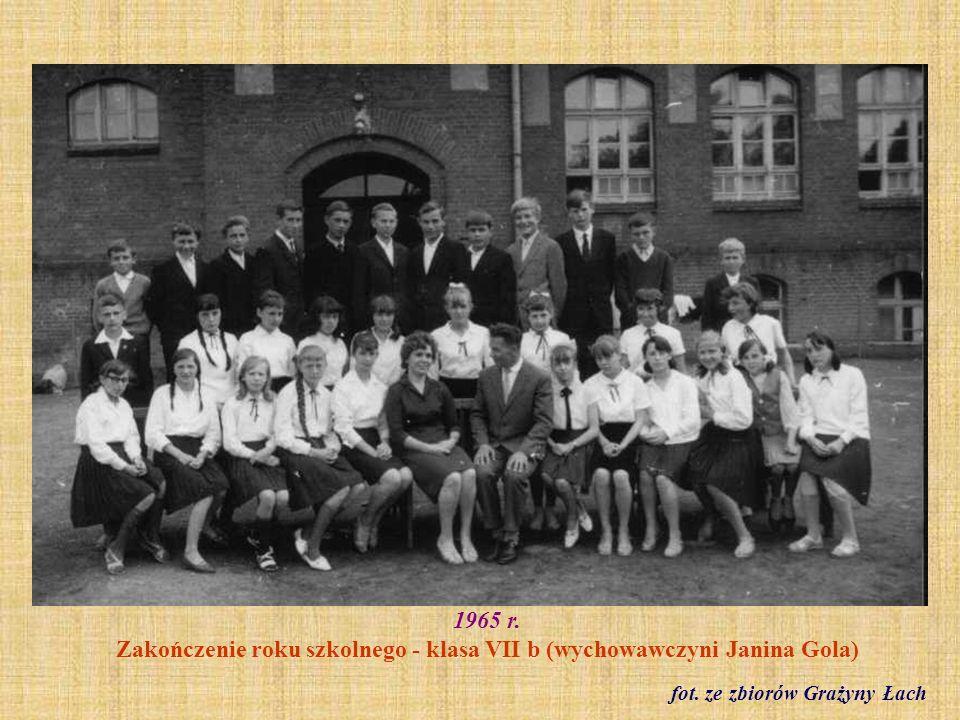 1967 r. Klasa I a z wychowawczynią Katarzyną Napolską Fot. ze zbioru Jolanty Muchowskiej