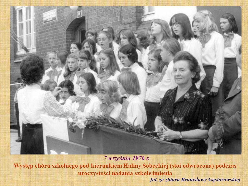 14 października 1976 r. Dzień Nauczyciela fot. ze zbioru Ireny Kwidzińskiej