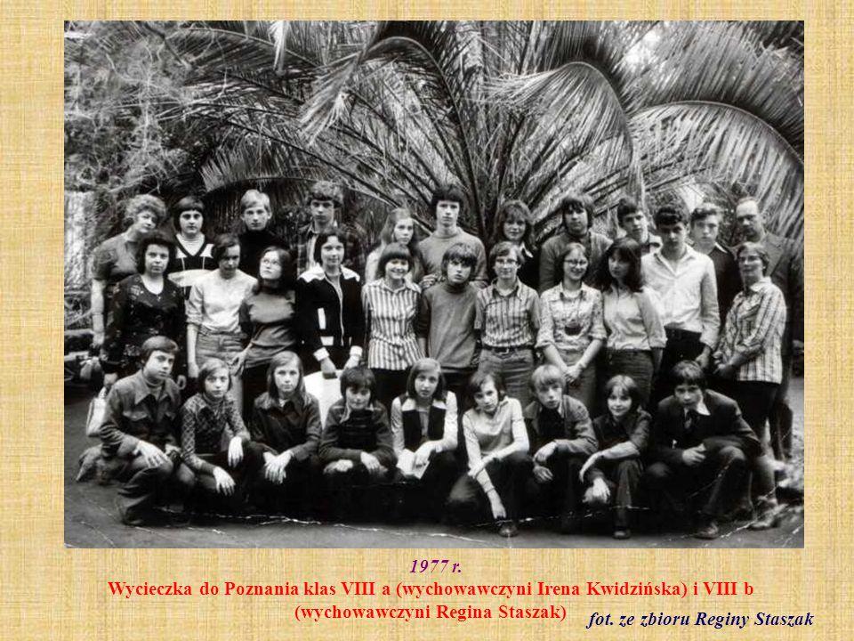 1978 r.Rada Pedagogiczna w czasie pożegnania p. dyrektor Bronisławy Gąsiorowskiej fot.