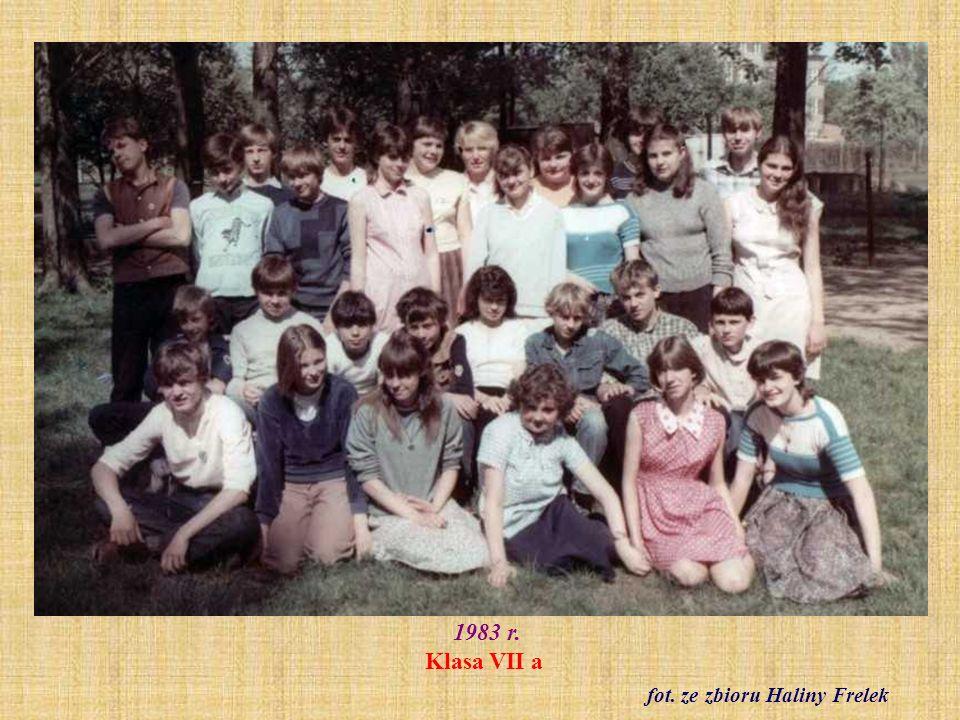 9.06.1983 r. Zakończenie klas ósmych fot. ze zbioru Bogusława Pawluczuka