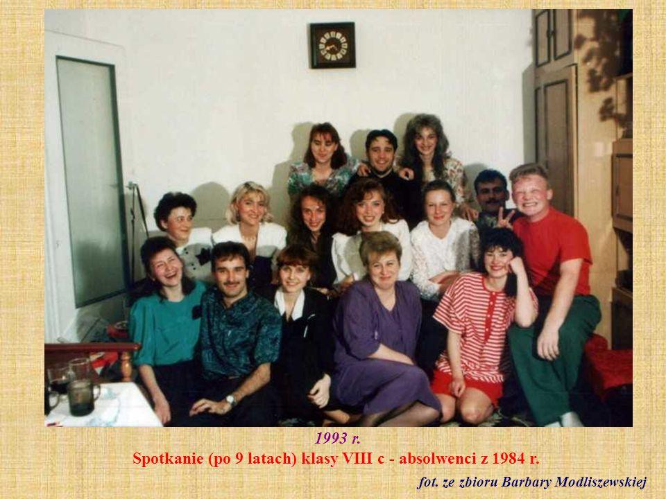 1993 r. Klasa VIII a fot. ze zbioru Barbary Fornal