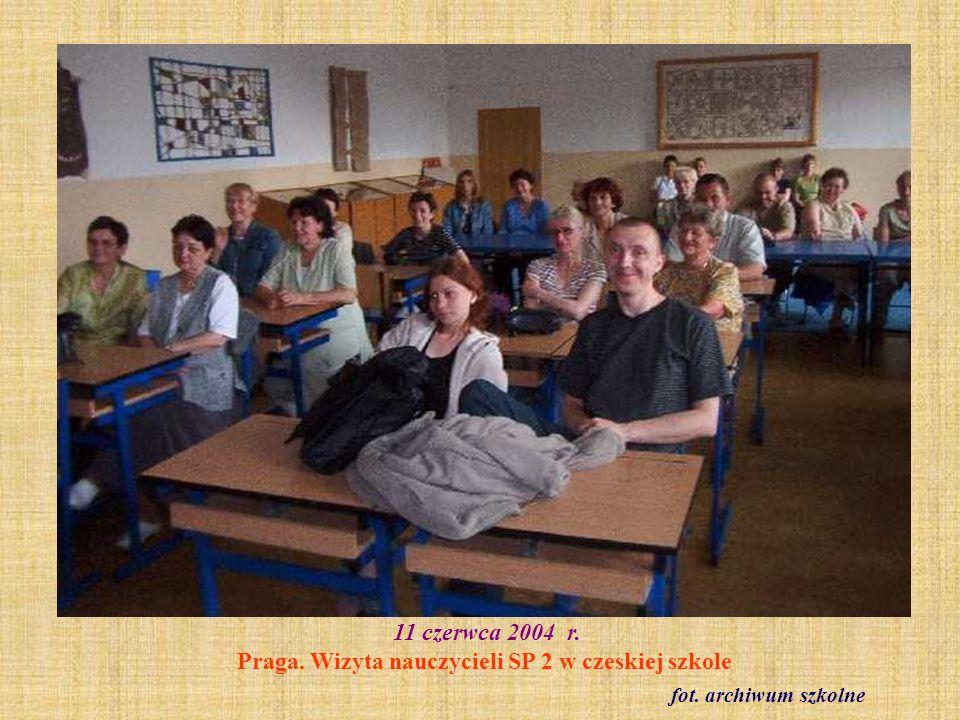 14 października 2004 r. Belfroteka fot. archiwum szkolne