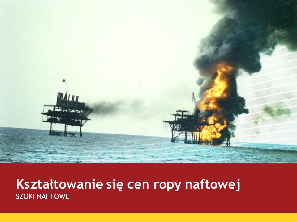 Kształtowanie się cen ropy naftowej SZOKI NAFTOWE