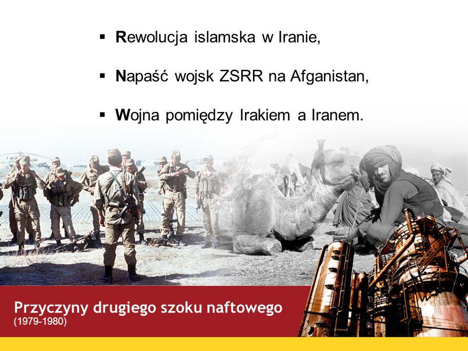 Rewolucja islamska w Iranie, Napaść wojsk ZSRR na Afganistan, Wojna pomiędzy Irakiem a Iranem. Przyczyny drugiego szoku naftowego (1979-1980)