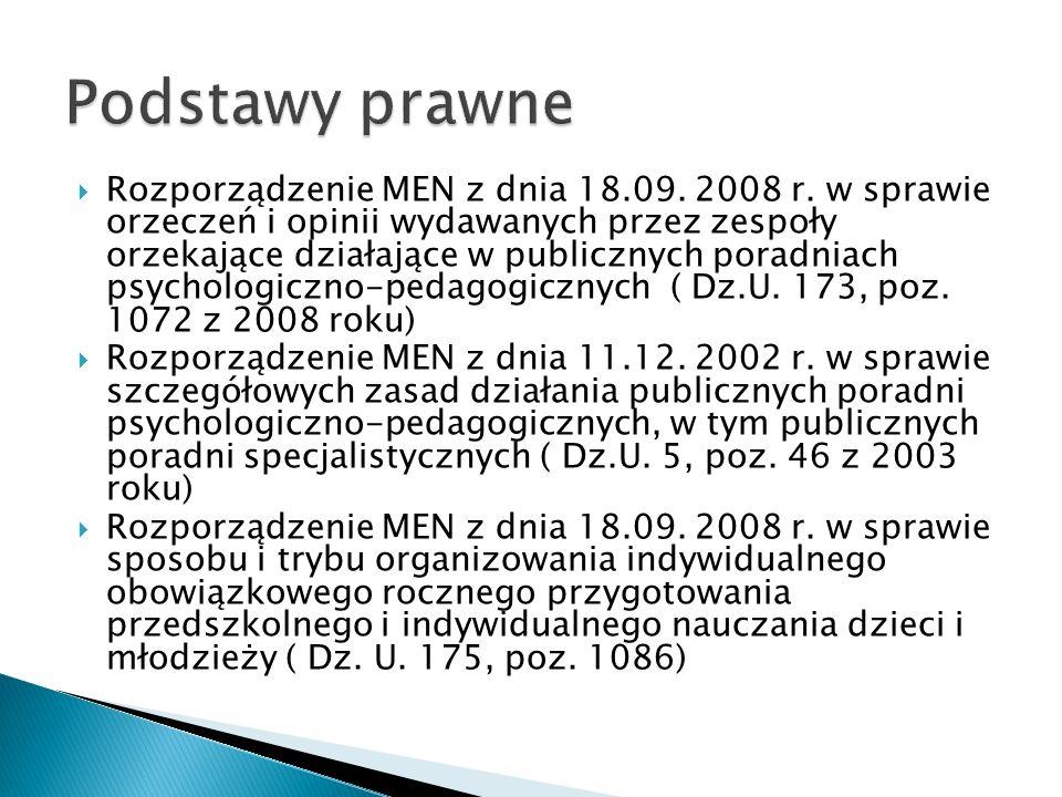 Rozporządzenie MEN z dnia 18.09. 2008 r.