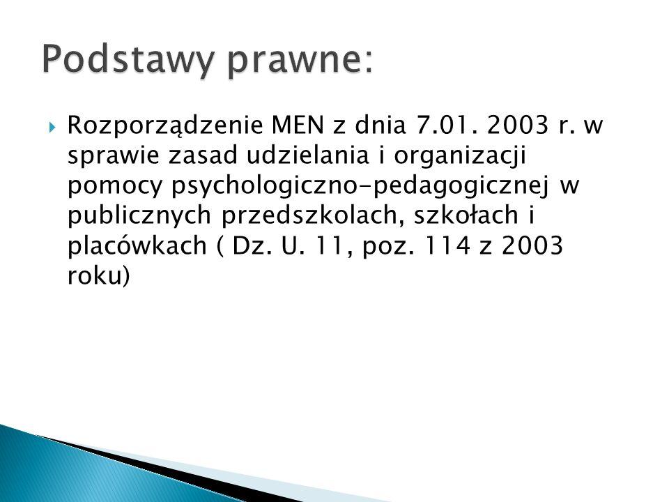 Rozporządzenie MEN z dnia 7.01. 2003 r.