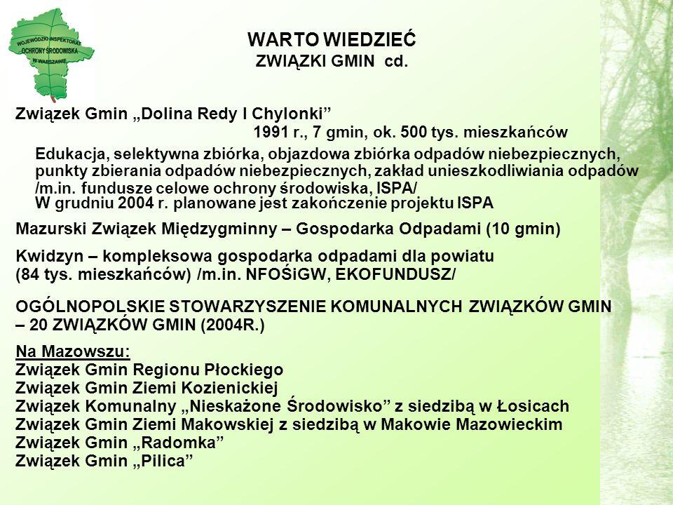 Związek Gmin Dolina Redy I Chylonki 1991 r., 7 gmin, ok.