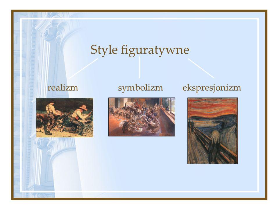Style figuratywne realizm symbolizm ekspresjonizm