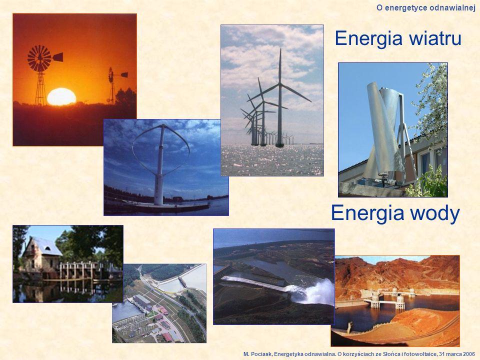Energia wiatru Energia wody O energetyce odnawialnej M.