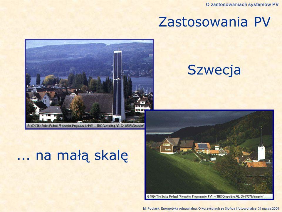 Zastosowania PV Szwecja...na małą skalę O zastosowaniach systemów PV M.