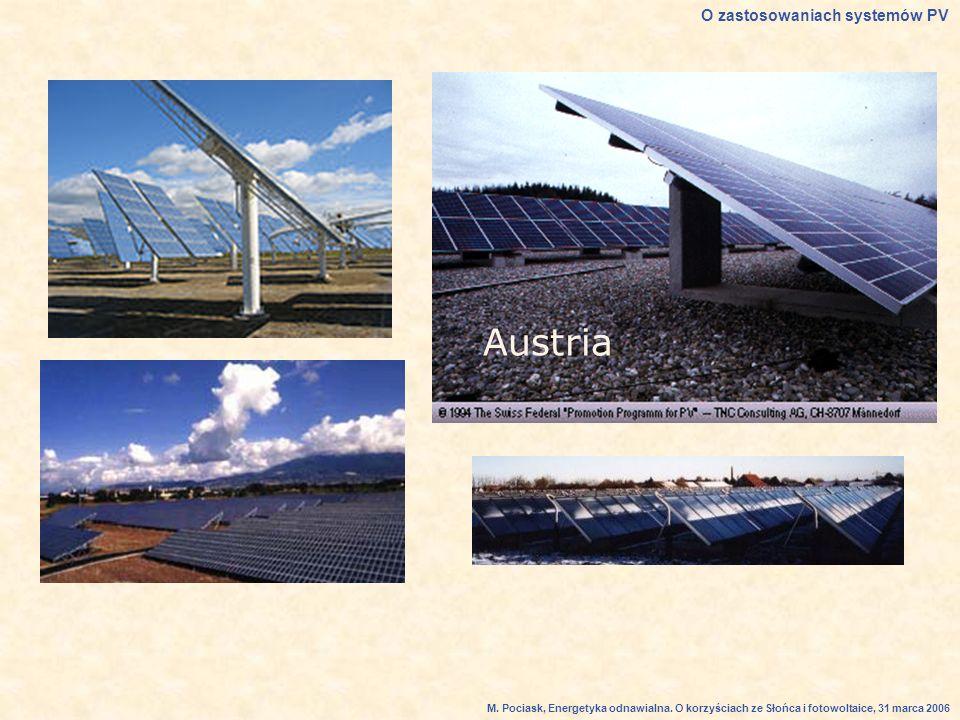 Austria O zastosowaniach systemów PV M.Pociask, Energetyka odnawialna.
