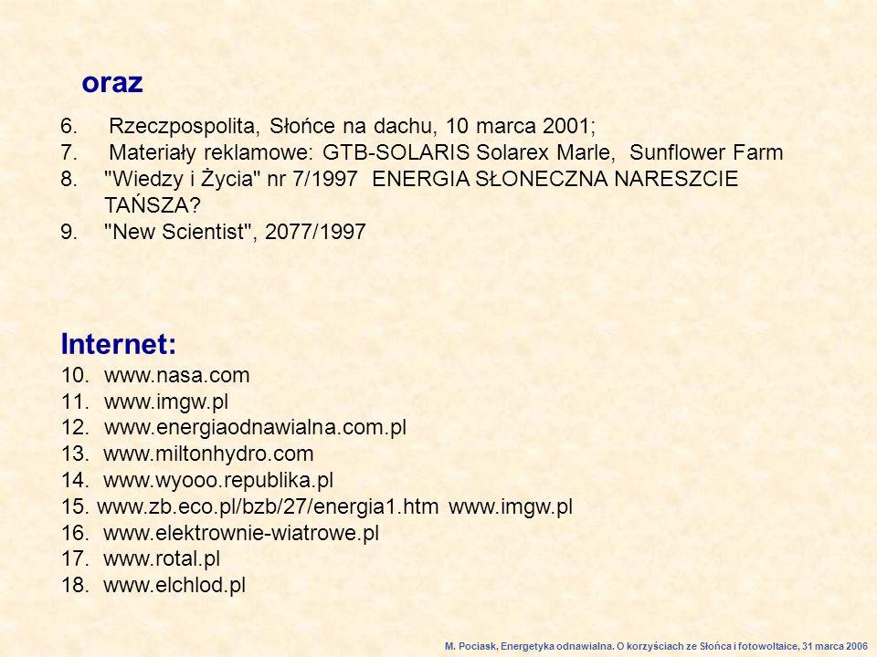 6.Rzeczpospolita, Słońce na dachu, 10 marca 2001; 7.