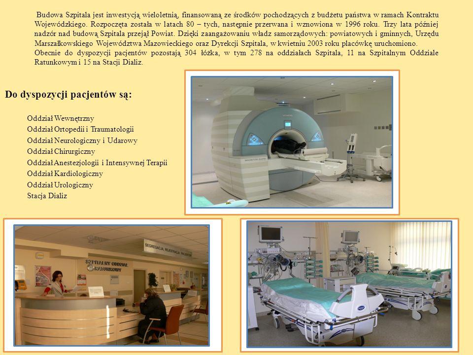 Budowa Szpitala jest inwestycją wieloletnią, finansowaną ze środk ó w pochodzących z budżetu państwa w ramach Kontraktu Wojew ó dzkiego. Rozpoczęta zo