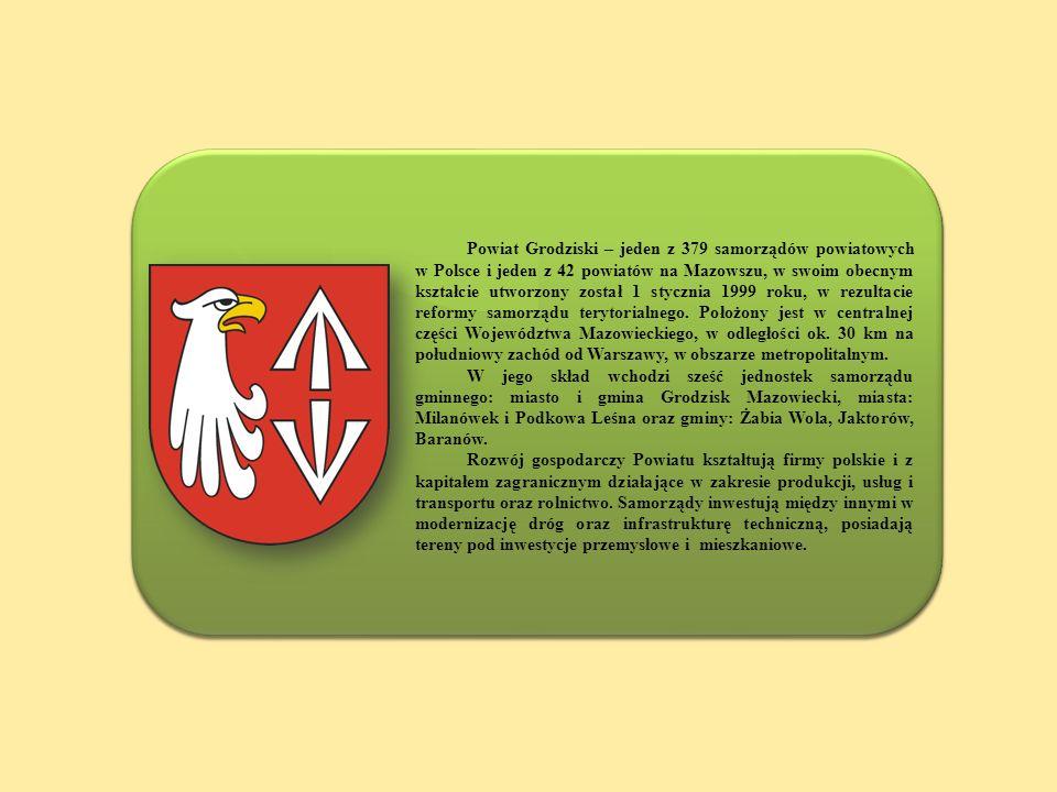 Powiat Grodziski – jeden z 379 samorządów powiatowych w Polsce i jeden z 42 powiatów na Mazowszu, w swoim obecnym kształcie utworzony został 1 styczni