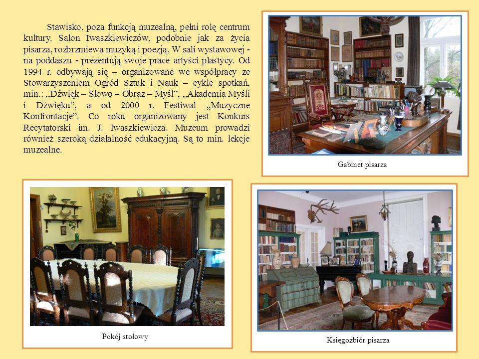 Stawisko, poza funkcją muzealną, pełni rolę centrum kultury. Salon Iwaszkiewiczów, podobnie jak za życia pisarza, rozbrzmiewa muzyką i poezją. W sali