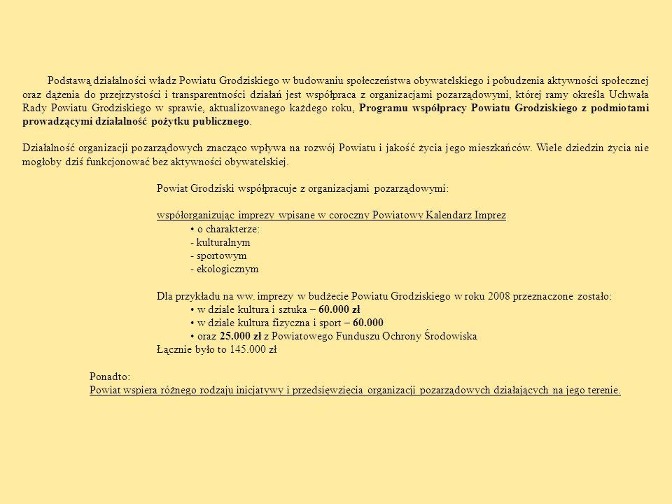 Podstawą działalności władz Powiatu Grodziskiego w budowaniu społeczeństwa obywatelskiego i pobudzenia aktywności społecznej oraz dążenia do przejrzys