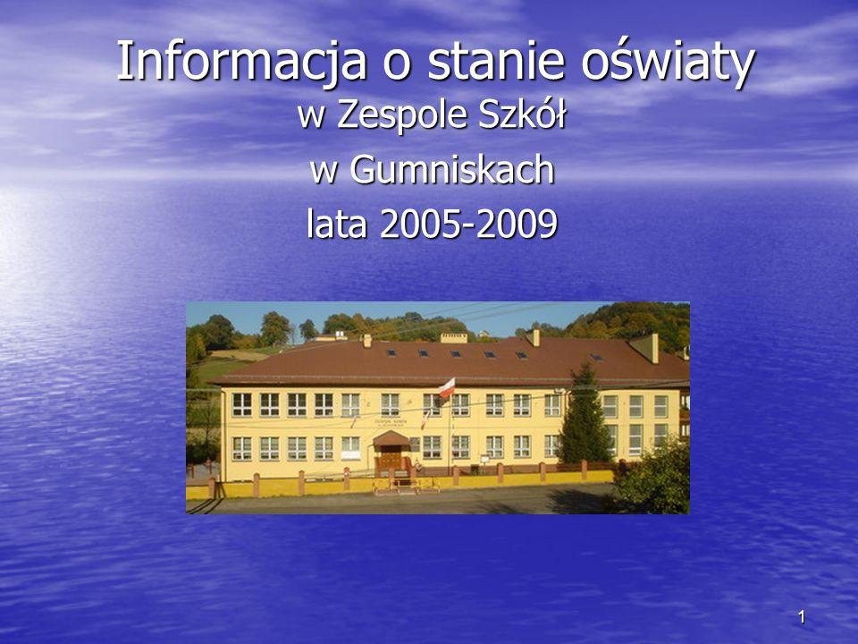 1 Informacja o stanie oświaty w Zespole Szkół w Gumniskach lata 2005-2009