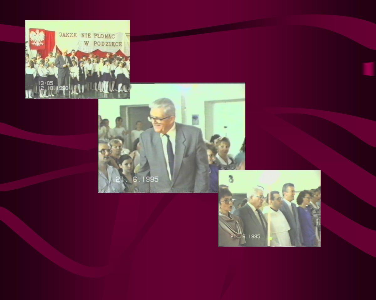 Przeszłość - Przyszłości Oficjalne nadanie imienia i sztandaru szkoły. 19 czerwca 1992 roku