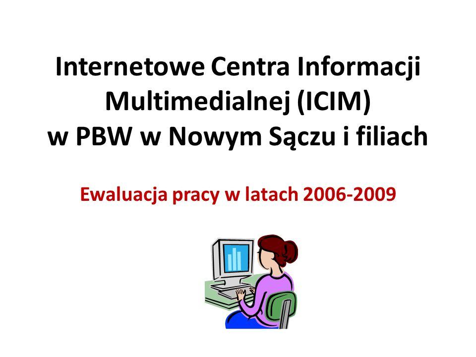 Internetowe Centra Informacji Multimedialnej (ICIM) w PBW w Nowym Sączu i filiach Ewaluacja pracy w latach 2006-2009