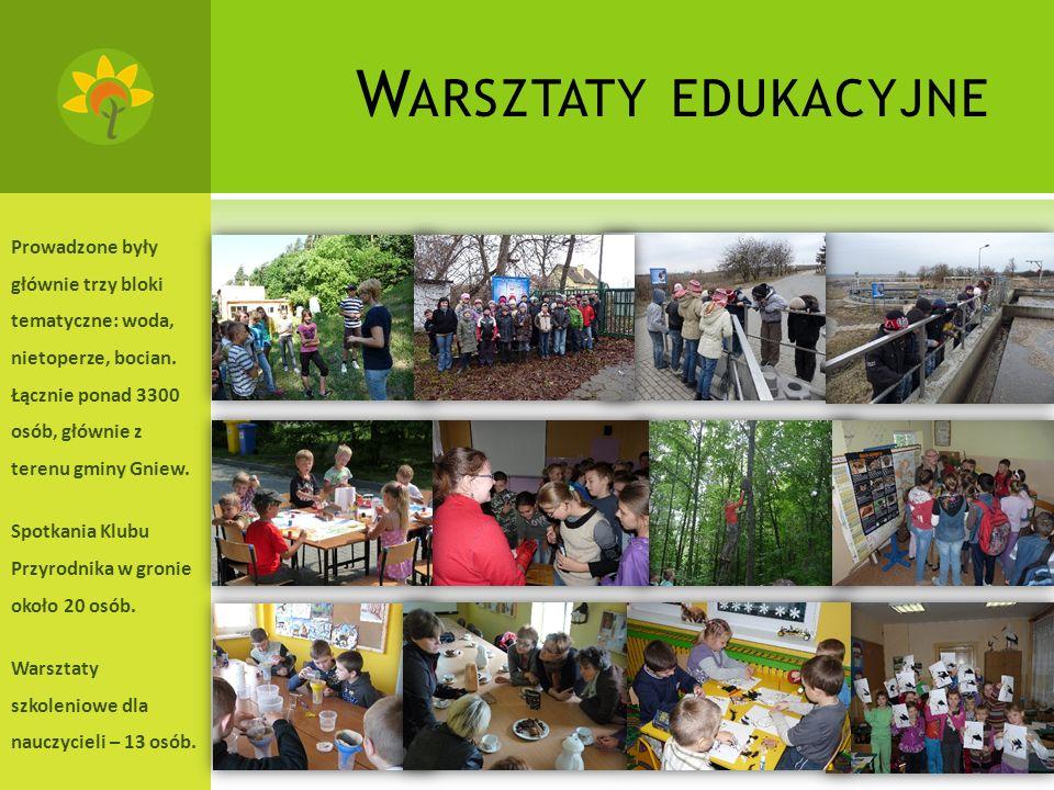 F ERIE I WAKACJE W Feriach z Ekologią – 4 dni –uczestniczyło łącznie 67 osób.