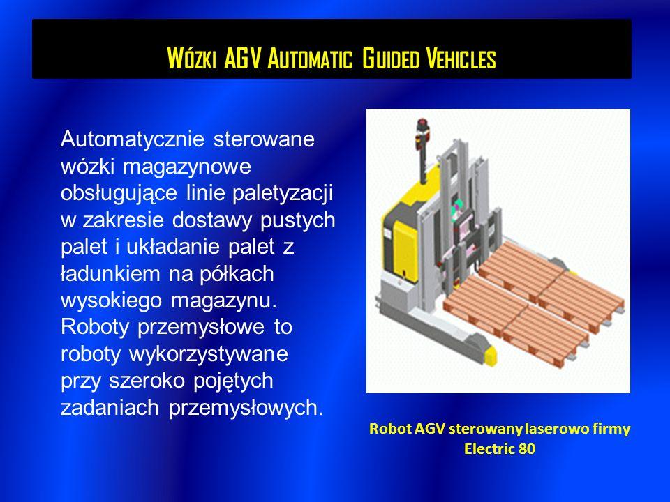 W ÓZKI AGV A UTOMATIC G UIDED V EHICLES Automatycznie sterowane wózki magazynowe obsługujące linie paletyzacji w zakresie dostawy pustych palet i ukła