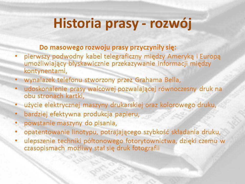 Historia prasy… W pierwszej połowie XX wieku mówiło się o nastaniu nowego dziennikarstwa (New Journalism), które zaczęło intensywnie szukać sposobów na poszerzenie kręgu zainteresowanych prasą.