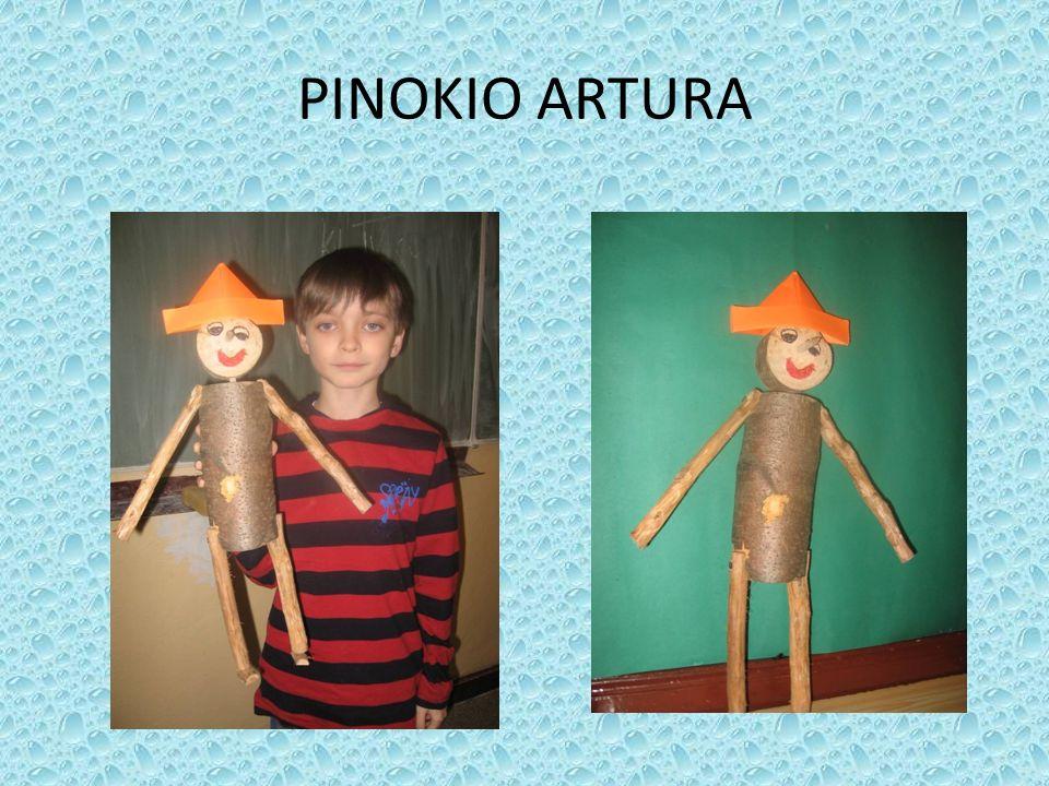 * PIĘKNIE WYSTRUGANY PINOKIO ŁUKASZA