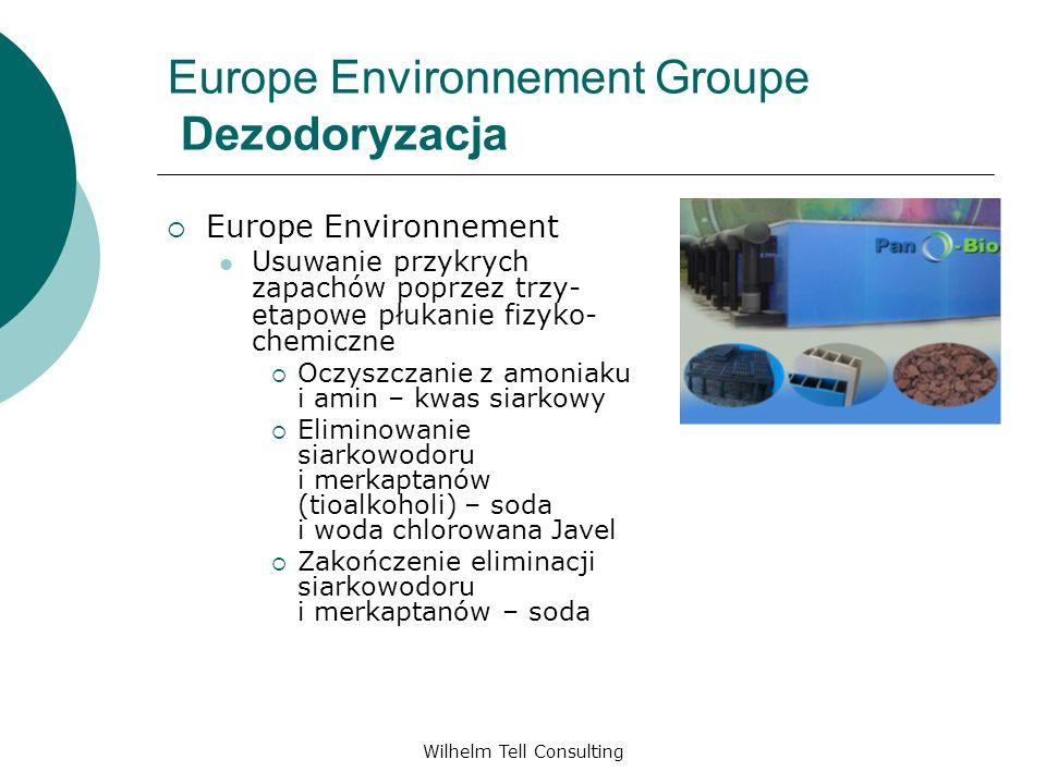 Wilhelm Tell Consulting Europe Environnement Groupe Dezodoryzacja Europe Environnement Usuwanie przykrych zapachów poprzez trzy- etapowe płukanie fizy