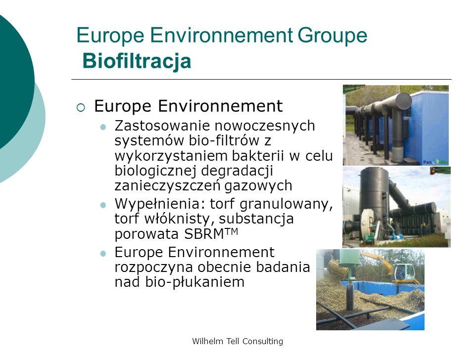 Wilhelm Tell Consulting Europe Environnement Groupe Biofiltracja Europe Environnement Zastosowanie nowoczesnych systemów bio-filtrów z wykorzystaniem