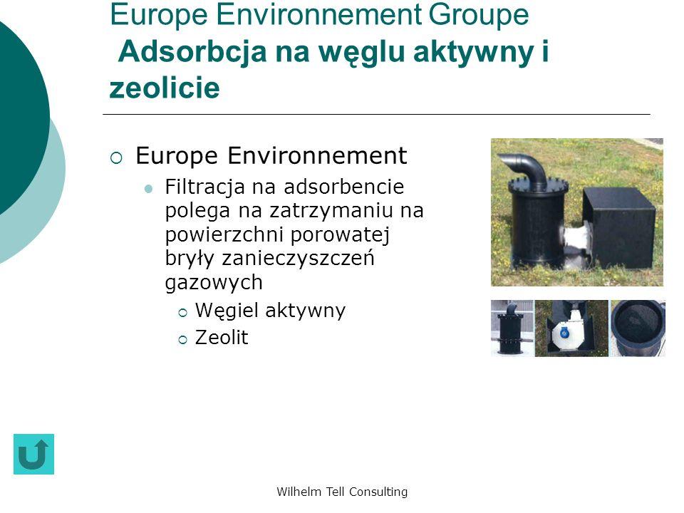 Wilhelm Tell Consulting Europe Environnement Groupe Adsorbcja na węglu aktywny i zeolicie Europe Environnement Filtracja na adsorbencie polega na zatr