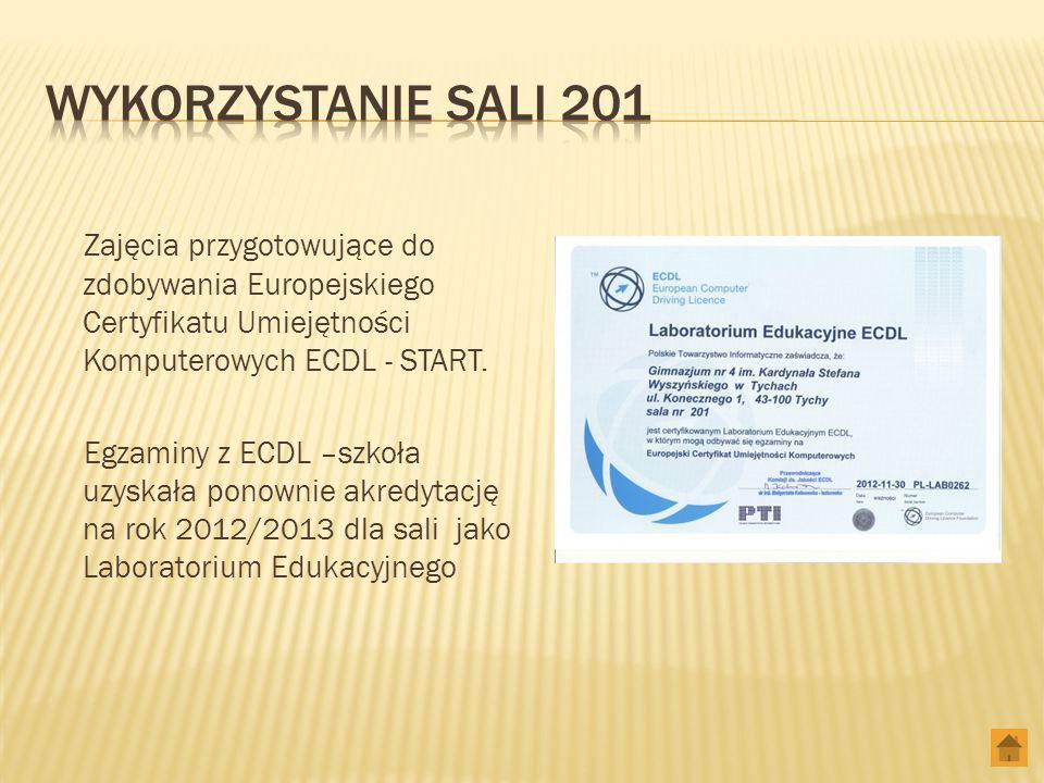 Zajęcia przygotowujące do zdobywania Europejskiego Certyfikatu Umiejętności Komputerowych ECDL - START.