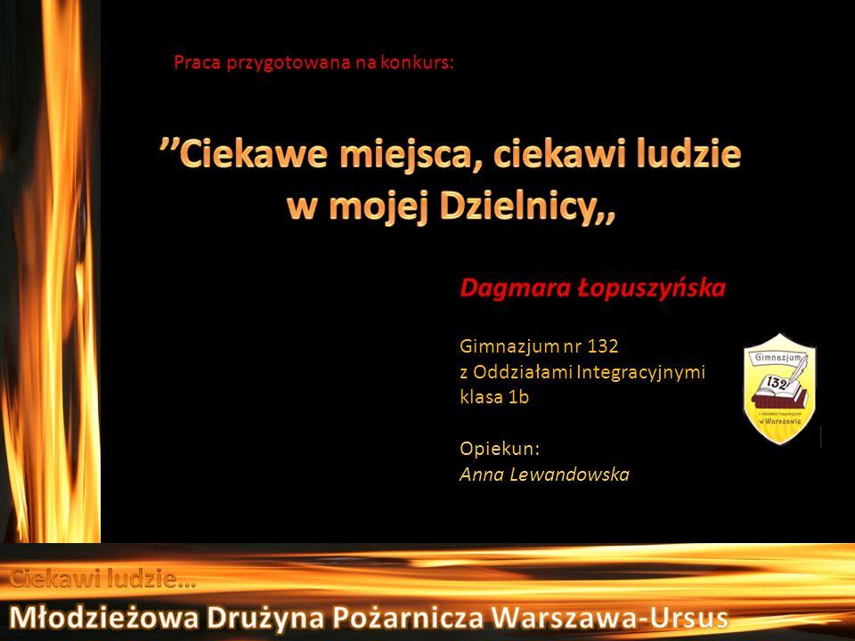 Praca przygotowana na konkurs: Dagmara Łopuszyńska Gimnazjum nr 132 z Oddziałami Integracyjnymi klasa 1b Opiekun: Anna Lewandowska