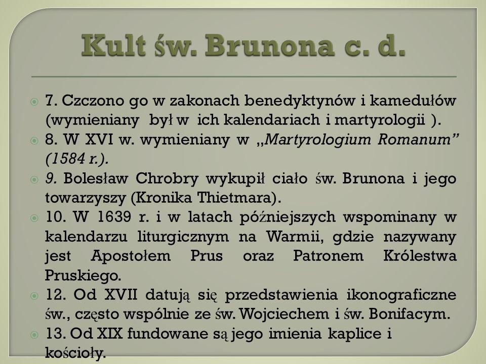 Fragment polichromii ze ś w. Brunonem wykonanej w 1976 r. przez artyst ę Józefa Ł otowskiego