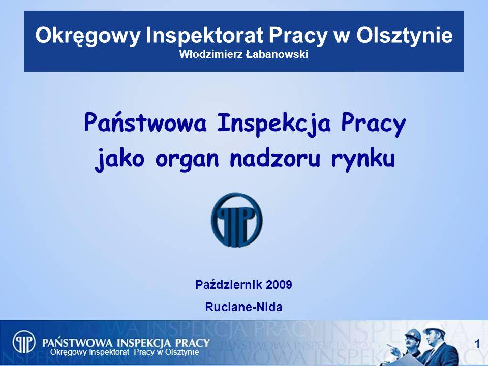 Okręgowy Inspektorat Pracy w Olsztynie 12 Możliwości prawne IP w toku kontroli w ramach nadzoru rynku (3) - Zlecenie badania wyrobu Na wniosek inspektora pracy okręgowy inspektor pracy, może zlecić poddanie wyrobu badaniom akredytowanemu laboratorium w celu ustalenia czy wyrób spełnia zasadnicze wymagania.