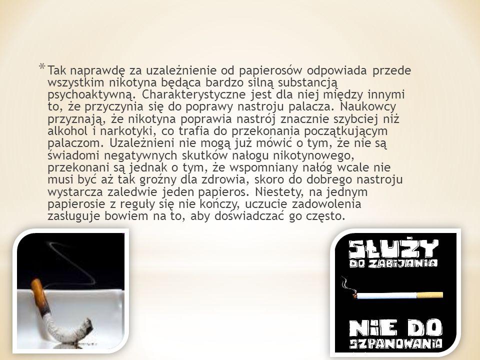 * Od 30 lat Polska znajduje się w czołówce krajów o najwyższej konsumpcji tytoniu na świecie.