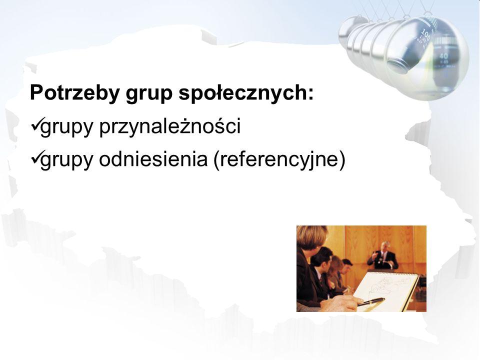 Potrzeby grup społecznych: grupy przynależności grupy odniesienia (referencyjne)