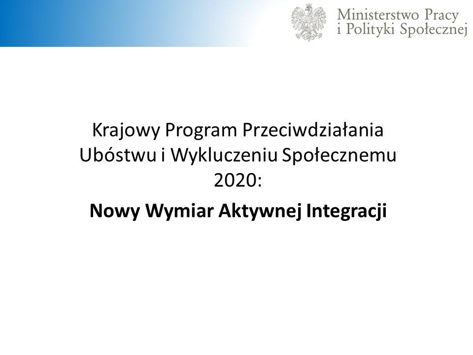 Krajowy Program Przeciwdziałania Ubóstwu i Wykluczeniu Społecznemu 2020: Nowy Wymiar Aktywnej Integracji