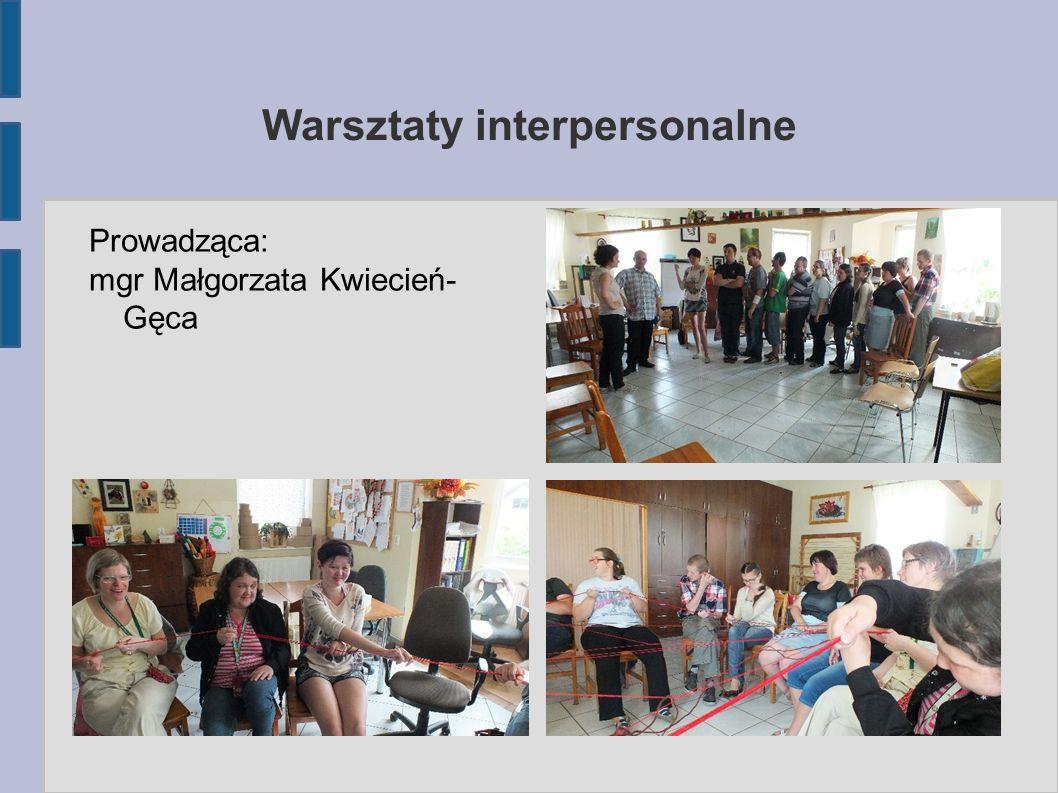 Warsztaty szkoleniowe W trakcie zrealizowano: 1.warsztaty z zakresu umiejętności społecznych, 2.