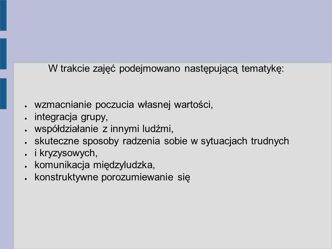 Warsztaty z zakresu umiejętności społecznych niezbędnych rzecznikowi własnych praw Prowadzące: mgr Małgorzata Grzyb Sylwia Dzikowska